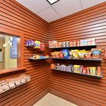 24 hour sundry shop with a variety of snacks and beverages.