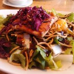 Their Famous Hoisin Salmon Salad! Flavorful Bite Every Time!