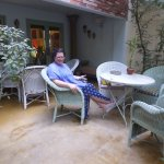 this is the patio, perfect for relaxing or waiting for a taxi in comfort
