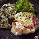 Le plat du jour : roti orlof avec risotto aux légumes, très bon et pas cher