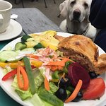 "Beef Pot Pie and a dog named ""Carmel"""