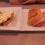 Ham and Swiss and Banana Cream Pie