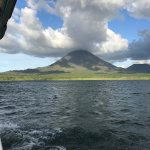 Sunset tour of Lake Arenal, Arenal Volcano shown