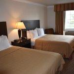 Double Queen Beds with Microfridge
