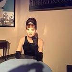 Wax figure of Audrey Hepburn