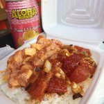 spicy ahi + shoyu ahi (and complementary canned juice)