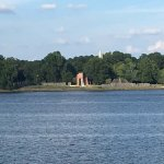 the Jamestown site from the river ferry