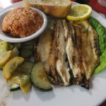 Grilled Rainbow Trout in lemon with the Tomato Rice