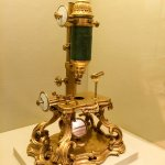 Compound microscope dated 1751