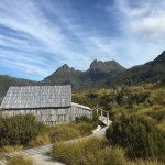 the Dove lake walk -transport required 15 minutes away to the 3-4 hour walk