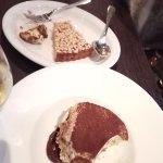 The torta della nonna and tiramisu