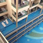 Balcony pools to 1st, 2nd and 3rd floors.