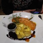 Surf + turf special and hot smoked salmon