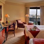 Superior Queen City View room. All rooms feature panoramic views across Cairo and the city.