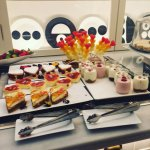 Valentines themed breakfast and great balcony with our room