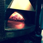 The coal fired oven. Sit near it on cold nights!