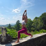 The Wilburton Inn's 30-acre hilltop is the perfect setting for yoga and relaxation.