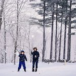 Enjoy the snow at the Wilburton Inn, winter wonderland.