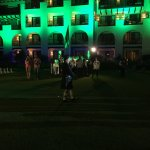 Lit up the resort in green!
