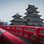 Matsumoto Castle from the Red Bridge