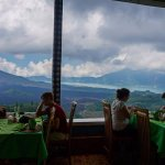 Batur Mt. view from the restaurant