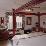 Our largest room, the Patrick Henry Suite is on the 3rd floor of our main house. It has a king b