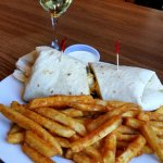 Fajita Wrap and Fries