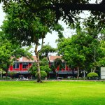 Santichaiprakarn Park - a riverside park is reachable by walking along the river from our hotel