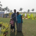 At the lawn amidst the pandal of marriage party