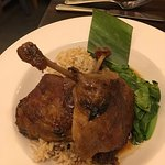 Thai fish curry & duck leg with buck choi