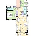 Angels Camp  Two-Bedroom Floor Plan