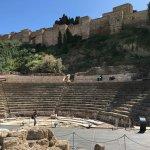 The Roman Theatre with e Alcazabra in the background.