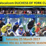 Racing Season 2017 starts this Saturday 25 March till 03 December 2017...