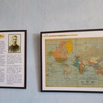 Dr. Sun Yat Sen's campaign tour map displayed in the first room