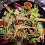 Salade végétarienne et fricassée de St Jacques