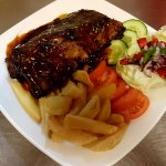 Baby rack of ribs marinated with a Home made Jack Daniels BBQ sauce