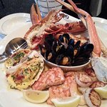 Seafood platter for two.