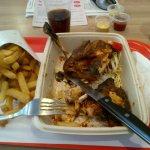 Spicy roasted chicken at Los Pollos