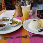 My Rice and curry meal delicious