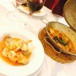 Portugal in a copper pot - sea food cataplana