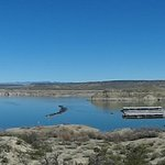 Panoramic view of Elephant Butte Lake