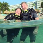 Best Diving and snorkeling in the world off the Hilton, Curacao beach,  dive shop is right there
