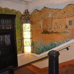 Entryway from street / wall mural