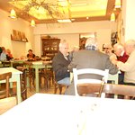 The lunch place Kostas took us to in Andritseina, the mountain village near the isolated Bassae