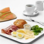 Breakfast Meat & Cheese Plate