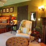 Our most luxurious and private guest suitfe features an Ethan Allen king bed,  Fireplace/whirlpo