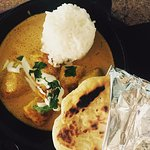 Chicken Curry and house-made naan
