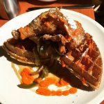 Confit chicken and waffles