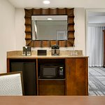 The newly renovated two room suites feature a wet bar in the living room.