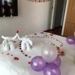 Birthday deco by hotel staff. OMG.